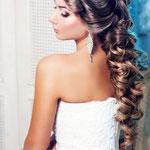 Причёска с ЛОКОНОМ на заколке - причёска с постижем, золотисто-русый