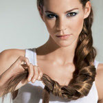 Причёска с ЛОКОНОМ-имитацией - причёска с постижем, русый