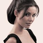 Причёска с РЕЗИНКОЙ объёмной, причёска с шиньоном-резинкой, причёска с постижем, чёрные прямые волосы
