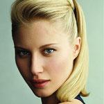 Причёска с ХВОСТОМ на крабе - причёска с постижем, золотистый блонд