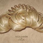 ПУЧОК для Волос - постиж, светлый блонд (из натуральных волос)