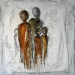 """family"" Mischtechnik auf Leinwand,  50x50 cm, Euro 520.00"