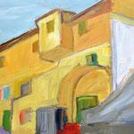 """""""La Casa Gialla""""    40 x 30 cm   Oel auf Leinwand    280.- Euro   m. R."""