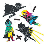Kratzbild-Magnet Superheld