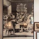 Una stampa inglese che raffigura con ilarità la firma delle 51 donne al Edenton Tea Party