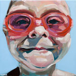 EN LA PISCINA · 30X30 · oil on canvas. no disponible