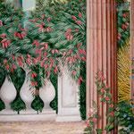"""""""Toscane"""" - Trompe l'oeil dans un bureau - Pour """"Les Céramiques d'Ariège"""" - Saverdun sur garonne - Détail 1,5 X1 m environ."""