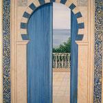 """Porte mauresque à la """"Maison bleue"""" - Vic fézensac - Gers"""