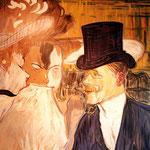 Le moulin rouge, d'après Toulouse Lautrec - Rugby bar à Auch - Gers