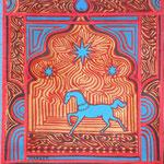 Cheval de palais - 50 X 65 cm - Disponible
