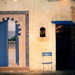 """Porte mauresque - Bodéga """"La Maison bleue"""" - Vic Fézensac - Gers"""