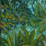 Forêt tropicale - Décor dans une piscine couverte.