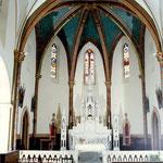 Eglise de Sana - 31 - Restauration des peintures en voute du choeur .