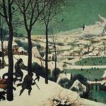 Chasseurs dans la neige de Bruegel (1565)