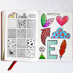 Bullet Journal und Sketchnotes - Doodles - How to draw - Malvorlage - Anleitung -Pattern Muster