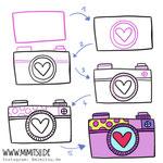 Bullet Journal und Sketchnotes - Doodles - How to draw - Malvorlage - Anleitung - Kamera