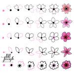 Einfach malen zeichnen - Bullet Journal und Sketchnotes - Doodles - How to draw - Malvorlage - Schritt-für-Schritt-Anleitung - flowers - cherry blossoms