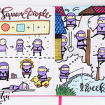 Sketchnotes - Doodles - How to draw - Malvorlage - Anleitung - Square people