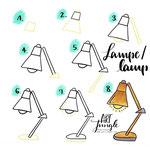 Einfach malen zeichnen - Bullet Journal und Sketchnotes - Doodles - How to draw - Malvorlage - Anleitung - Schreibtischlampe - Lampe