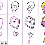 Bullet Journal und Sketchnotes - Doodles - How to draw - Malvorlage - Anleitung - Liebe
