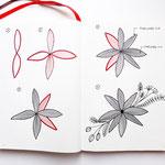 Bullet Journal und Sketchnotes - Doodles - How to draw - Malvorlage - Anleitung - Blume 1