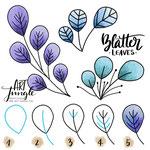 Einfach malen zeichnen - Bullet Journal und Sketchnotes - Doodles - How to draw - Malvorlage - Schritt-für-Schritt-Anleitung - Blätter Zweig Leaves