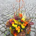 Herbstlich gepflanzter Kürbis