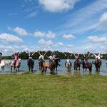 Randonnée à cheval au lac de Rochereau