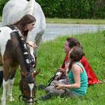 Détente et complicité avec les poneys