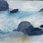 Isländisches Wasser 8 (Mixed Media)