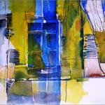 Blaues Fenster (Aquarell)