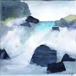 Isländisches Wasser 3 (Mixed Media)