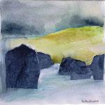Isländisches Wasser 5 (Mixed Media)