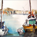 Südlicher Hafen (Aquarell)