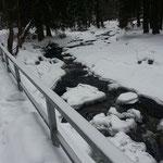 Das winterliche Schwarzwassertal bei Pobershau