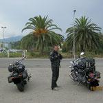 Unsere Motorräder unter Palmen
