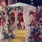 Booth decorations at the trade show.