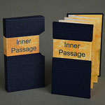 Inner Passage (2001) ink jet, Japanese book cloth on covers, edition of fifty, 3 x 1.75 inches, multiple public and private collections