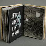 Marking Time (1997) intaglio, relief-rolled intaglio, hand coloring and letterpress, covers are low-fired ceramic, edition of five, 3.25 x 2.25 inches, multiple public and private collections