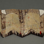 Four Passages (2000) intaglio and hand stitching, edition of ten, 4.5 x 15 x 2 inches displayed, multiple public and private collections