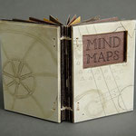 Mind Maps (1998) intaglio, hand coloring and ink jet for text, edition of four, 3.5 x 2.5 inches