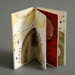 The Gold Box Book (1995) intaglio, hand coloring, unique, 3 x 2 inches