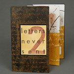 Letters Never Sent 2 (1996) pigmented pulp painting, monotype, letterpress, collage, edition of two, 5 x 2.75 inches