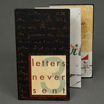 Letters Never Sent 3 (1996) pigmented pulp painting, monotype, letterpress, collage, edition of two, 5 x 2.75 inches
