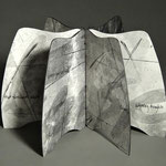 Silence Edges (2015) monoprint with paste paint and handwriting,  wire-edge binding, Baylor University Libraries