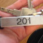 Hotelschlüssel - klein, handlich.