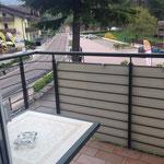 Blick vom Balkon - Hotel San Carlo.
