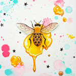 """The Bee-star-""2012,18×14cm,Acrylic colors on canvas"