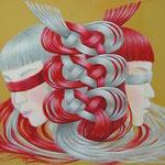 """縁""""en""""2010,50.0×60.6cm,Oil on Canvas"""