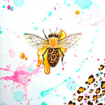 """The Bee-leopard prints""2013,18×14cm,Acrylic colors on canvas"